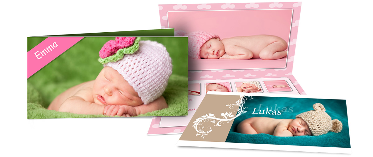Create birth announcement cards with the software – Create a Birth Announcement