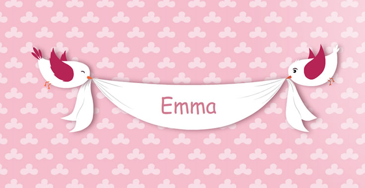 Emma -  Baby Girl Design Template
