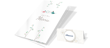 Place and menu cards