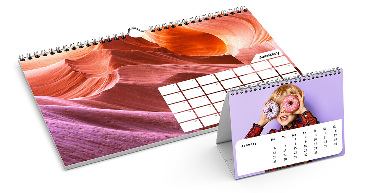 The monthly calendar from Saal Digital